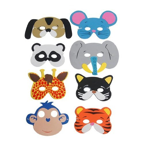 PARTYRama Animaux en Mousse Masque – Lot de 8