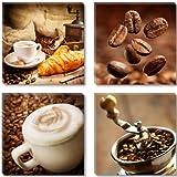 Visario Leinwandbilder 6603 Bild auf Leinwand Coffee 4 x 30