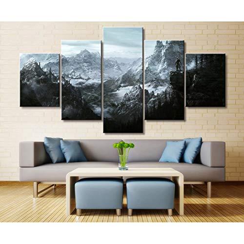 TIANJJss 5 foto's op canvas met decoratie voor het huis modulaire afbeelding op canvas 5-delig spel schilderij poster voor muur thuis canvas schilderkunst handel