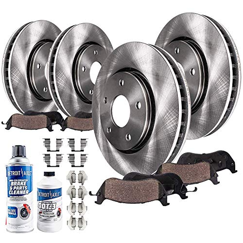 Detroit Axle - Front and Rear Disc Rotors +...