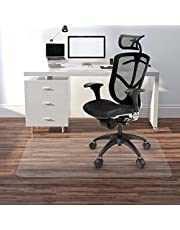 """Kuyal Clear Chair mat for Hard Floors 36 x 48 inches Transparent Floor Mats Wood/Tile Protection Mat for Office & Home (36"""" X 48"""" Rectangle for Hard Floor)"""