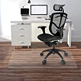 Kuyal Clear Chair mat for Hard Floors 36 x 48 inches Transparent Floor Mats Wood/Tile Protection Mat for Office & Home (36' X 48' Rectangle for Hard Floor)