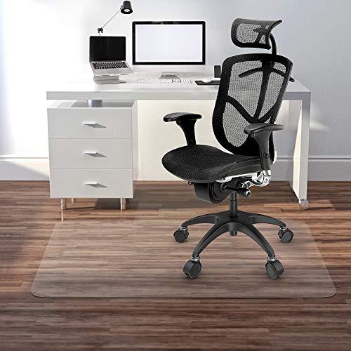 Kuyal Clear Stuhlmatte für Harte Böden 76x120cm transparente Fußmatten Holz- / Fliesenschutzmatte für Büro & Zuhause