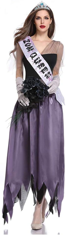 KAKAFASHION Halloween Masquerade Stage Performance Costumes Luxury Black Purple Ghost Bride Welcome Lady Zombie Costume Gothic Vampire Stage Costume