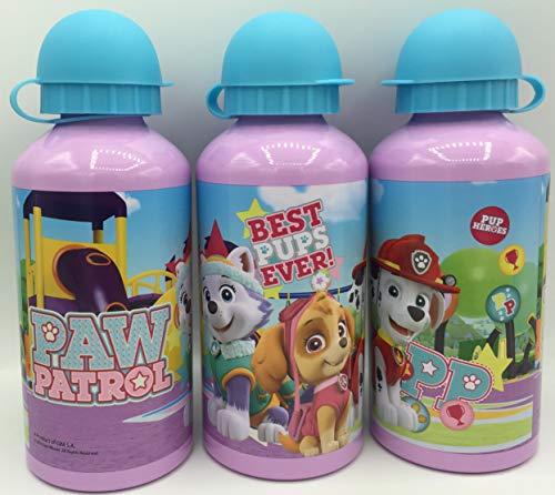 GIM Una Botella de Agua de Aluminio, cantimplora térmica a Prueba de Fugas sin BPA para Levar a la Escuela y Deportes el Termo 500ml para niños y niñas Patrulla Lila-Azul