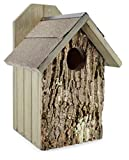 Uncle Dunkels Premium Screech Owl House Nest Box - Handmade in USA - Pine Chips - Stainless Steel Hanging Hardware - Prefinished Ready to Install