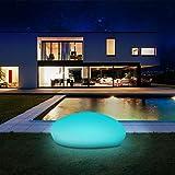 Solarlampen für außen, infray Solarleuchten für außen, Solar Gartenleuchten 40cm Solarkugel...