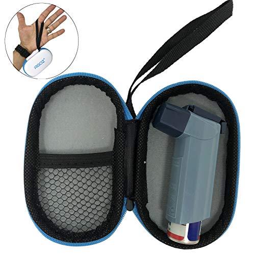 AGOZ Medizinische Tasche für Asthma mit Reißverschluss und Handgelenkschlaufe, weiß