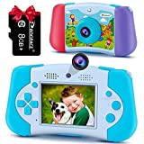 Kids Camera Toddler Toys Boys - Prograce Selfie 12M Front and Rear Dual Cameras Kids Video Camera Children Digital Camera Age 3 4 5 6 7 8 9 10 11 12 Years Old Toys Gifts