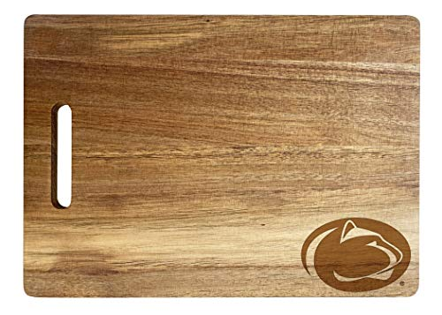 Penn State Nittany Lions Engraved Wooden Cutting Board 10' x 14' Acacia Wood - Small Engraving