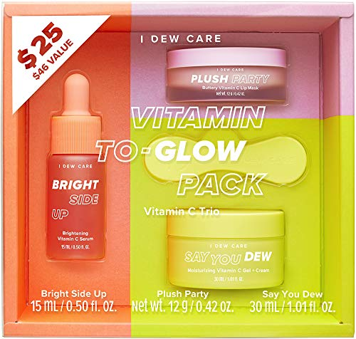 I DEW CARE Vitamin To-Glow Pack Skin Care Set | Brightening Starter Kit | Korean Skincare, Vegan, Cruelty-free, Paraben-free | Birthday gifts for friends female