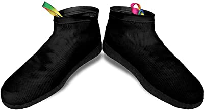 Henhaing Waterproof Shoe and Boot Covers - Reusable and Portable Boot Shoe Covers Rain Cover Dirt-Proof and Slip-Resistance Overshoes for Outdoor Protection Made of Natural Rubber Men Women Kids