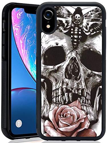 Mr dud, iPhone XR Case - iPhone XR Protective Cover Case Black Design Case for iPhone XR Case Compatible with iPhone XR iPhone XR Case for Christmas Boy Girl (Skull)