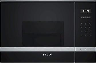 Siemens iQ500 Microondas integrable, 800 W, 20 litros, Cristal, Acero
