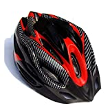 Elibeauty Casco de equitación para bicicleta al aire libre, fibra de carbono, textura de fibra de carbono, casco dividido, casco duro, accesorios de equipo, casco de seguridad general (rojo)