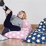 Lounge Pug, Puff Pera 'Relajarse' para niños, Estampado para Niños - Estrellas Rosa
