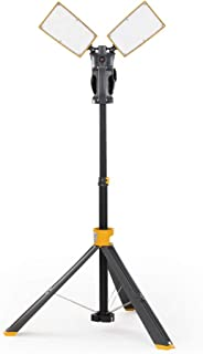 LUTEC 6290XL 7000 Lumen 93 Watt Dual-Head LED Work Light with Telescoping Tripod, Work Light with Stand Rotating Waterproof Lamps and 8 Ft 3-Prong Power Cord