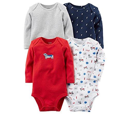 Carter's Baby Boys' 4-Pk. Long Sleeve Original Bodysuits Newborn