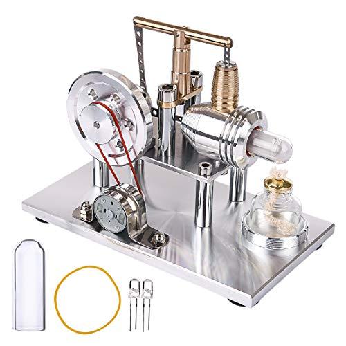 LOSGO Stirlingmotor Waage Stirling Engine Modell Stirlingmotor Bausatz mit Generator STEM Spielzeug