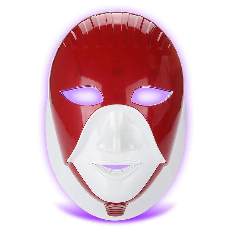 国民投票うなり声群れLEDフェイスマスク、7色Led /ホワイトニング若返り/そばかすしわ/アンチエイジング/引き締め肌、フェイスマスク用マシンライトセラピーにきびマスクネック美容LEDマスク