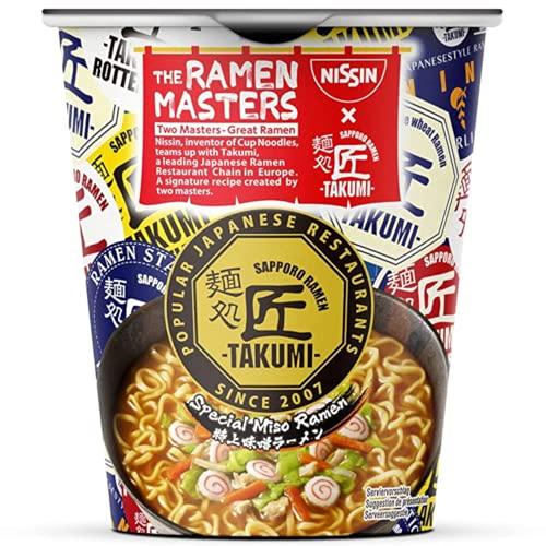 NISSIN Foods The Ramen Masters - Takumi Special Miso Ramen Original japanisches Miso Ramen Rezept als Instant-Nudelsuppe (1 x 74g). Restaurantgeschmack im Becher, 1 Stück 1340