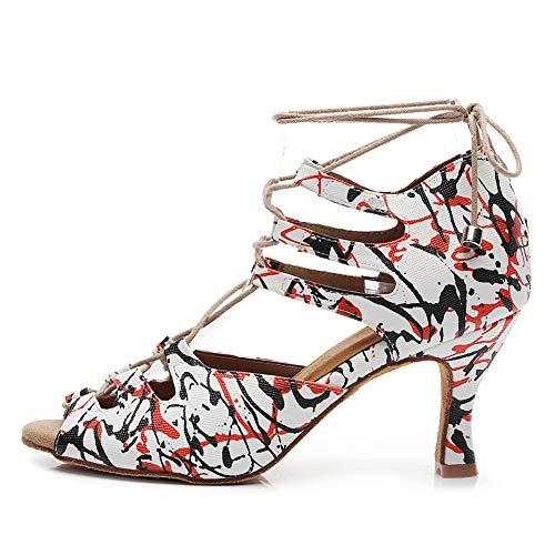 AOQUNFS Zapatos de Baile Latino Mujer Salsa y Bachata Altos Zapatos de...
