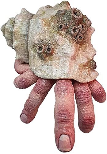YHK Prank Props Schreckliche Muschel Finger Ornamente,Weird Realistic Fingercrab Modell,Einsiedlerkrebs Haus Aquarium Dekoration Desktop Ornament