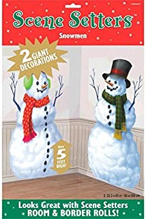 Amscan Snowmen Scene Setters Add-Ons 4 Count