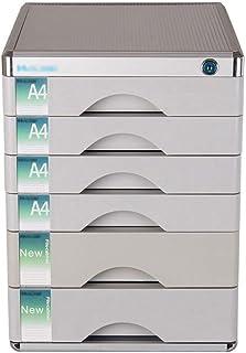 KANJJ-YU Tiroir trieuses, 6 couches de bureau A4 papier avec verrouillage multi-couche en plastique Type de tiroirs Bureau...