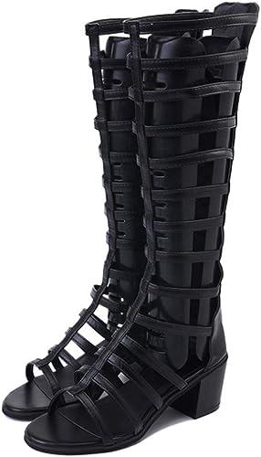 Xuyaowzr zapatos de Moda para mujer Sandalias zapatos Planos con Cuentas de Gran tamaño,Apricot,36