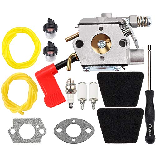 Carburetor for Poulan 32cc PPB100 PPB200 PPB300 PPB350 PP031 PP033 PP035 PP036 with Fuel Line Filter Primer Bulb Parts Kit Carb PP131 PP135 PP136 PP336 PP446T 31WG Gas Trimmer Weedeater Pole Pruner