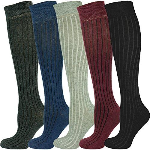Mysocks Calcetines largos unisex hasta la rodilla con un diseño extra fino de algodón peinado