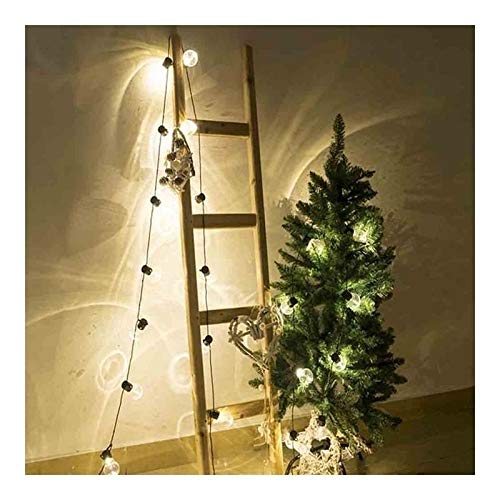 Fashion Fairy Lights, 10m 38 Led Universal Lights, Led Lights, Party Ball String String Lights for Interior Decoration, Wedding Coffee Shop (Color : White, Size : 6M 20Globes)