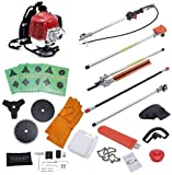 Gas Hedge Trimmer 52CC Petrol Brush Cutter Long Neck Garden Trimming Tools Grass Pruner Chainsaw for Tree Trimming 5 in 1