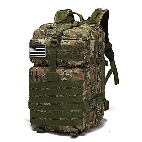 GRTE Military Tactical Backpack Adult Trekking Rucksack Survival Bag, Outdoor Hiking Bag 40L Camouflage Tactical Mesh Bag Cycling Backpack Hiking Equipment Camping Mesh Backpack,D