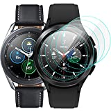 KIMILAR [5 Pack] Protector de Pantalla Compatible con Samsung Galaxy Watch4 Classic 46MM/Galaxy Watch 3 45MM Cristal Protector, Anti-Arañazos Sin Burbujas Para Watch 4 Classic Protectora