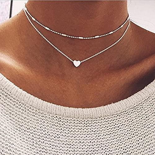 MIKUAX collarCollar de Perlas de Mariposa Multicapa de Moda para Mujer, Gargantilla de Perlas Doradas con Estrella de Sol a la Moda, Collares, Regalo de joyería de Tendencia