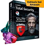 G DATA Total Security 2020 | 1 Gerät - 1 Jahr, DVD-ROM inkl. Webcam-Cover | Virenschutz Windows, Mac, Android, iOS | Made in Germany