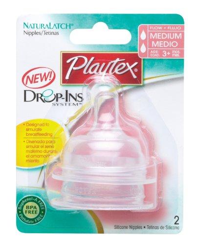 Affordable Playtex NaturaLatch Silicone Nipple, Medium Flow - 2 Pack