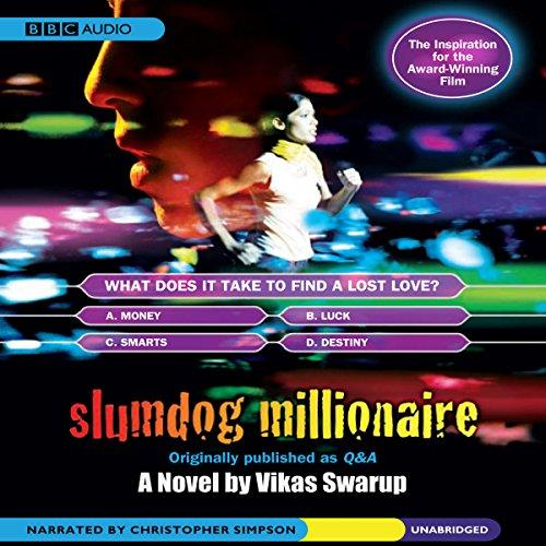 Slumdog Millionaire audiobook cover art