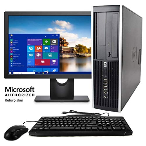 HP Elite Desktop Computer, Intel Core i5 3.2 GHz, 8 GB RAM, 500 GB HDD, Keyboard & Mouse, Wi-Fi, 19inch LCD Monitor, DVD-ROM, Windows 10, (Renewed)