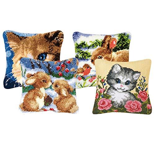 Colcolo 4 Juegos de Kits de Crochet de Ganchillo con Patrón de Animales