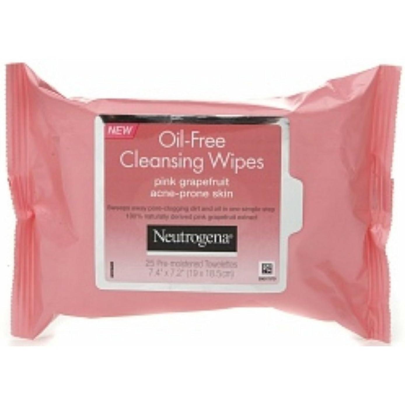 反論者ヨーグルトエンターテインメントNeutrogena Oil-Free Pink Grapefruit Cleansing Wipes, 25 Pre-moistened Towelettes Count 7.4