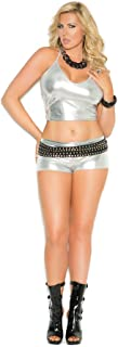 Elegant Moments Women's Plus-Size Queen Size Metallic Cami Top