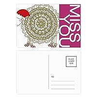 漫画羊のクリスマスの帽子のソックス ポストカードセットサンクスカード郵送側20個ミス