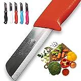 Solingen - 5 coltelli prodotti in Germania, multiuso per frutta e verdura, da tavola, molto affilati, durevoli, in acciaio inox