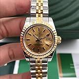 Klassische Armbanduhr Edelstahl Saphir Uhr Damen Lady Automatisch Mechanisch Diamant Silber Gold Schwarz Weiß Datejust 26mmSilber Gold