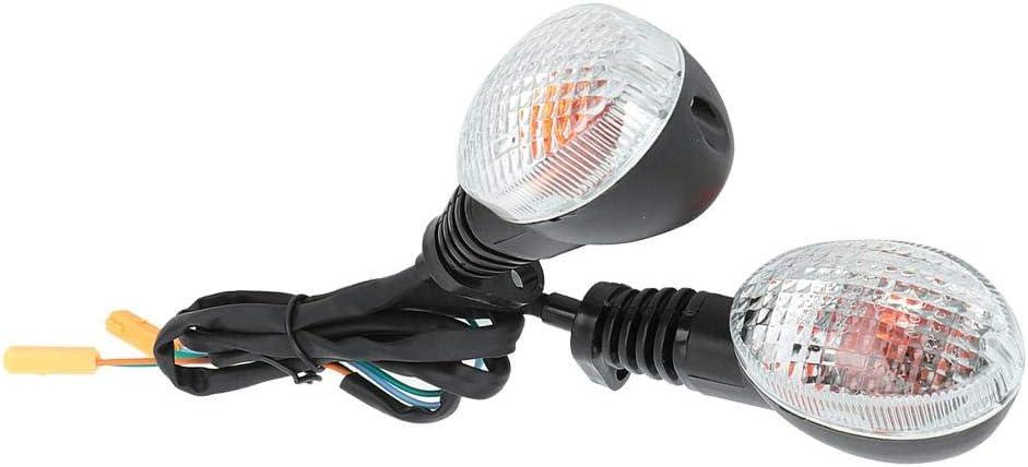 #2 Hlyjoon 2 Pcs Moto Turn Signal Light LED Motorcycle Indicators Lamp Waterproof ABS Warning Turning Lights Motorbike Modified Accessory for Para Ninja 250 EX250 KLX 250SF 2008 2009 2010 2011 2012