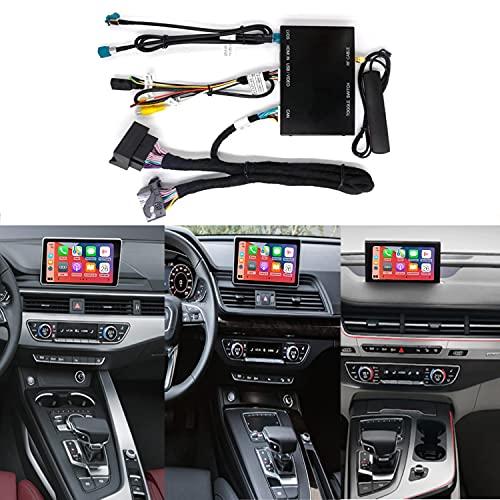 Road Top Retrofit Kit Decodificador con interfaz inalámbrica Apple CarPlay Android Auto para Audi S4 S5 A4 A5 2015-2019 Año Q7 2016-2018 Año Q5 2018-2019 Año con Mirror Link Función AirPlay Ca