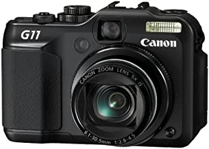 Canon PowerShot G11 10MP Digital Camera with 5x Wide Angle Optical Stabilized Zoom and 2.8-inch articulating LCD